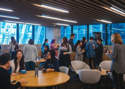 Students talk with speakers at the 2019 Digital Media Careers Forum