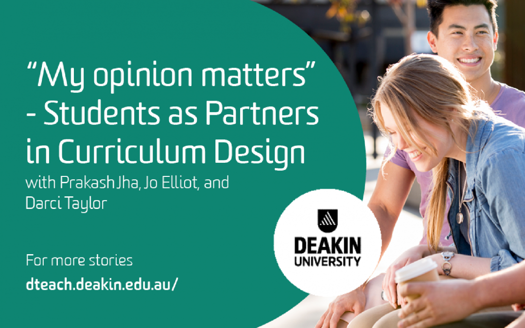 """My opinion matters"" – Students as Partners in Curriculum Design"